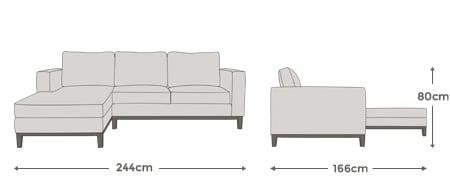 Lily Medium Left Hand Facing Corner Sofa