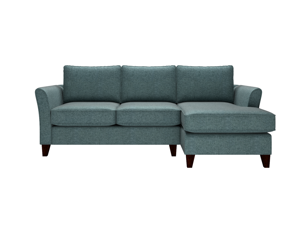 The Alex Large Corner Sofa Right Hand Facing Logan Duck Egg From